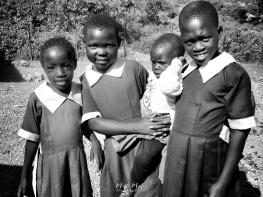 School Girls in Black and White 8 - Rucinga Island Kenya - by Anika Mikkelson - Miss Maps - www.MissMaps.com