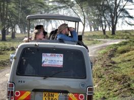 Tour Van - Lake Nakuru Kenya - by Anika Mikkelson - Miss Maps - www.MissMaps.com