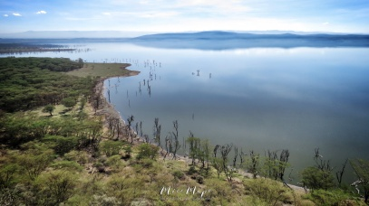 View of Lake Nakuru from Above - Lake Nakuru Kenya - by Anika Mikkelson - Miss Maps - www.MissMaps.com