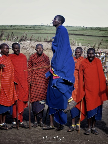 Jumping Maasai Men - by Anika Mikkelson - Miss Maps - www.MissMaps.com
