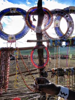 Jewelry For Sale in Maasai Village - Tanzania - by Anika Mikkelson - Miss Maps - www.MissMaps.com