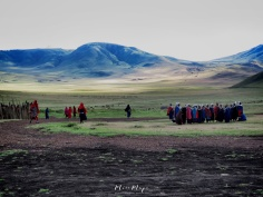 Maasai Tribe Singing Near Ngorongoro Crater Tanzania - by Anika Mikkelson - Miss Maps - www.MissMaps.com