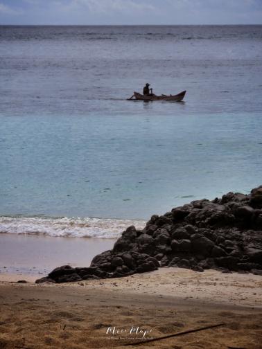 Lone Fisherman - Comoros - by Anika Mikkelson - Miss Maps - www.MissMaps.com