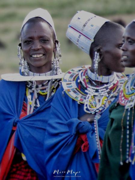 Smiling Maasai Woman - Tanzania - by Anika Mikkelson - Miss Maps - www.MissMaps.com