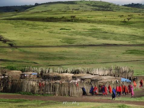 Maasai Tribe Community Near Ngorongoro Crater Tanzania - by Anika Mikkelson - Miss Maps - www.MissMaps.com