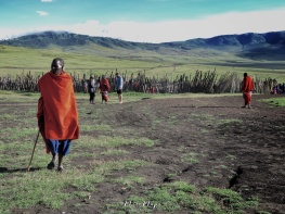 Outside Maasai Village - Tanzania - by Anika Mikkelson - Miss Maps - www.MissMaps.com