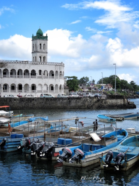 Mosque and Fishing Boats - Moroni - Comoros - by Anika Mikkelson - Miss Maps - www.MissMaps.com