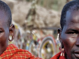 Men and Jewelry - Maasai Tribe Near Ngorongoro Crater Tanzania - by Anika Mikkelson - Miss Maps - www.MissMaps.com