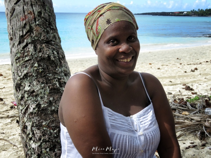 Woman on the Beach - Comoros - by Anika Mikkelson - Miss Maps - www.MissMaps.com
