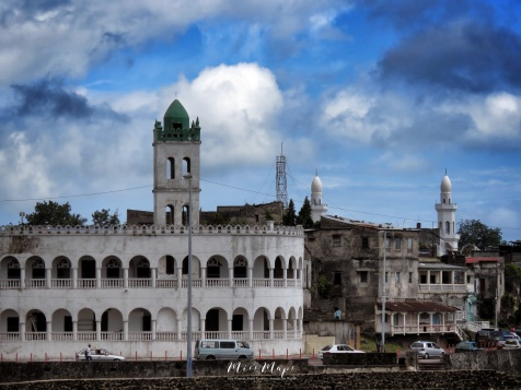 Beachside Mosques - Moroni - Comoros - by Anika Mikkelson - Miss Maps - www.MissMaps.com