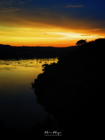 Sunset from Jinja Campsite - Uganda - by Anika Mikkelson - Miss Maps - www.MissMaps.com